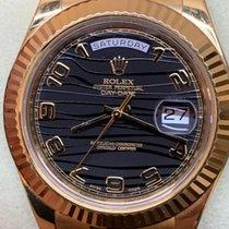 Rolex Day-Date II Gelbgold 41mm Schwarz Römisch Deutschland, mönchengladbach
