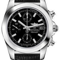Breitling Chronomat 38 Steel 38mm Black No numerals