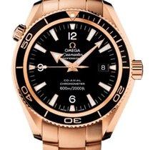 Omega Красное золото Автоподзавод Черный Aрабские 42mm новые Seamaster Planet Ocean