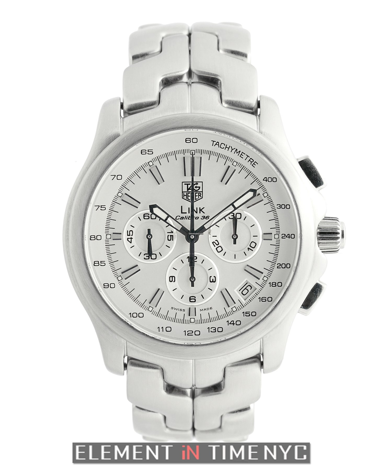 9f2dada1df2 TAG Heuer Link Caliber 36 El Primero Chronograph Stainless... for $3,725  for sale from a Trusted Seller on Chrono24