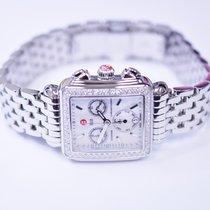 Michele Deco Diamond Stainless Steel Watch