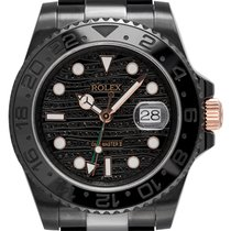 Rolex GMT-Master II Custom Black PVD/Rose Gold Diamonds Dial...