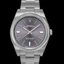 Rolex Steel Automatic Grey 39mm new Oyster Perpetual 39