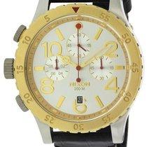 Nixon Chronograph Leather Mens Watch