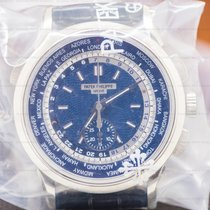 Patek Philippe World Time Chronograph White gold 39.5mm Blue