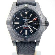 Breitling Avenger II GMT pre-owned 43mm Black Date GMT Rubber
