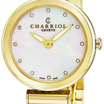 Charriol Yellow gold Quartz Mother of pearl new
