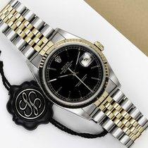 Rolex Datejust Or/Acier 36mm Noir