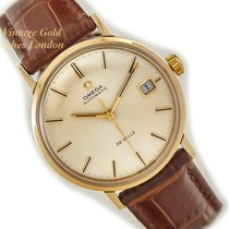 Omega Seamaster DeVille Yellow gold 35mm Silver No numerals