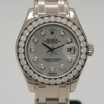 Rolex Lady-Datejust Pearlmaster White gold 29mm Mother of pearl No numerals