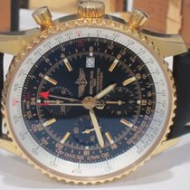 Breitling Yellow gold Automatic Black No numerals 46mm pre-owned Navitimer World