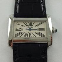 64c7a0352be Cartier Tank Divan relógios usado.