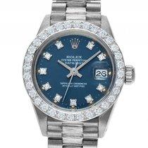 Rolex Datejust Lady 18kt Weißgold Diamond Automatik Armband...