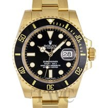 Rolex Submariner Date Or jaune 40mm Noir