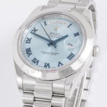 Rolex 218206 Day-Date II Ice Blue Concentric  Dial