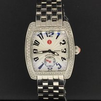 Michele Urban Mini 29mm X 35mm Diamond Bezel Stainless Steel...