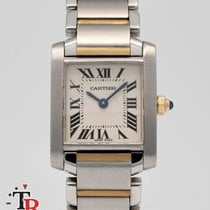 Cartier Tank Française Gold/Steel 20mm White Roman numerals