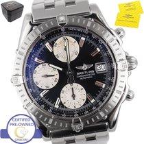 Breitling Chronomat Chronograph Stainless Steel Black A13352...