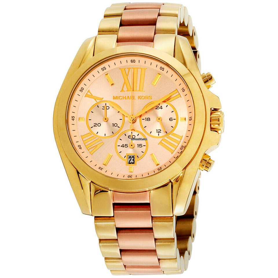 7178e2ffb611 Michael Kors Bradshaw Pink Dial Stainless Steel Ladies Watch... for 122 €  for sale from a Seller on Chrono24