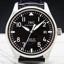 IWC Pilot Mark Aço 39mm Preto Árabes