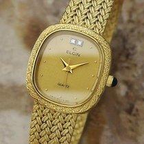 Elgin 21mm Quartz 1980 pre-owned Gold