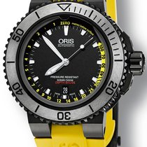 Oris Aquis Depth Gauge Steel 46mm Black No numerals