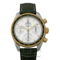 Omega Or jaune Remontage automatique Argent 38mm nouveau Speedmaster Ladies Chronograph