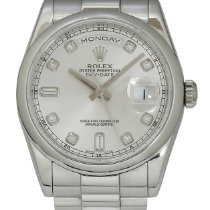 Rolex Day-Date 36 Platyna 36mm Srebrny
