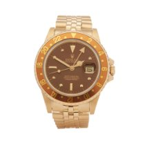 Rolex GMT-Master Or jaune 40mm Brun