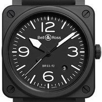 Bell & Ross Сталь Автоподзавод Черный 42mm новые BR 03-92 Ceramic