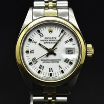 Rolex Oyster Perpetual Lady Date Gold/Steel 26mm White No numerals