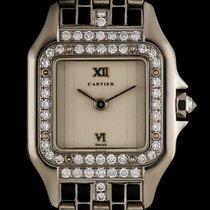 Cartier 18k W/Gold Rare Diamond & Enamel Set Art Deco Panthere...