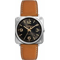 Bell & Ross Men's BRS92-G-HE-ST Aviation Golden Heritage  Auto...