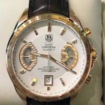 TAG Heuer Grand Carrera Rose gold 43mm White No numerals