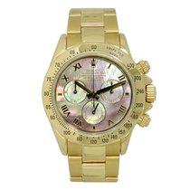 Rolex DAYTONA 18K Yellow Gold Watch Dark MOP Dial