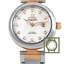 Omega LadyMatic Co-Axial 34 Stainless Steel/Rose Gold MOP Dial