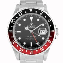 """Rolex GMT-Master II """"Coke"""" Stainless Steel Black Dial - 16710"""