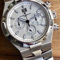 Vacheron Constantin Overseas Chronograph Stahl 42mm Silber Keine Ziffern