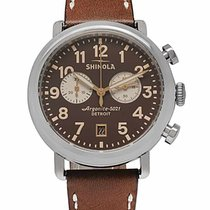 Shinola Chronograph 41mm Quartz new Brown