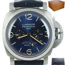 Panerai Luminor 1950 8 Days GMT Титан 47mm Синий