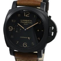 Panerai Luminor 1950 3 Days GMT Automatic occasion 44mm Noir Date GMT Cuir