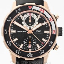 IWC Red gold Automatic Black 44mm pre-owned Aquatimer Chronograph