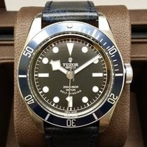 Tudor Heritage Black Bay Leather Strap Version Blue [NEW]