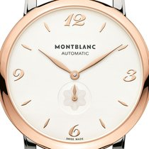 Montblanc new Automatic Display back Small seconds 39mm Gold/Steel Sapphire crystal