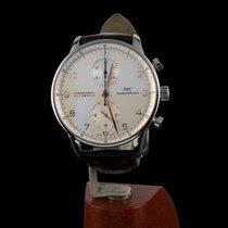 IWC Portugieser Chronograph gebraucht 40mm Weiß Chronograph Leder