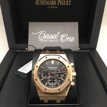 Audemars Piguet Royal Oak Chronograph rose gold black leather new