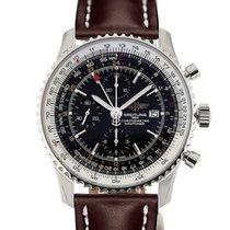 Breitling Navitimer World 46 Chronograph Black Dial Brown...