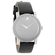 Movado Sapphire Mens Silver Mirror Dial Swiss Quartz Watch...
