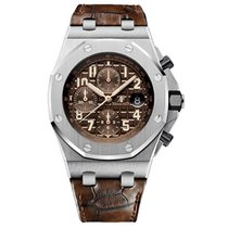 Audemars Piguet Royal Oak Offshore Chronograph Staal 42mm Bruin Arabisch