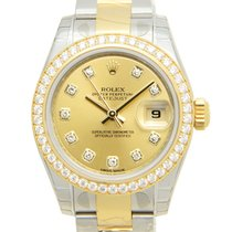 勞力士 Lady Datejust Gold Steel Diamond Gold Automatic 179383GCH_O